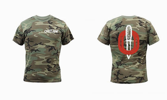 Outlaw Oyster Camo Tee Shirt